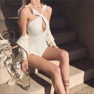 For Love and Lemons White One piece Swimsuit M